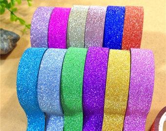 Glitter tape - 15 mm x 4 m - pink