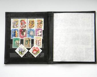 Soviet Postage Stamp Collecting Album-Vintage Stamp Book-philately-Small Stamp Holder-Mushroom-Plants