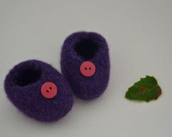 Shoes felted from 100% Merino wool - Waldorf doll clothes Steiner doll clothes knit pattern waldorf doll shoes steiner doll shoes