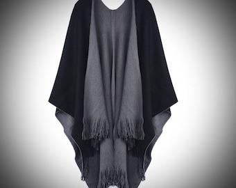 Gwendolyn Shawl/Medieval Cloak/Renaissance Cloak/Viking Cloak/ Renaissance Attire Clothing/Tassel Knit Shawl/Renaissance Faire/The Kingdom