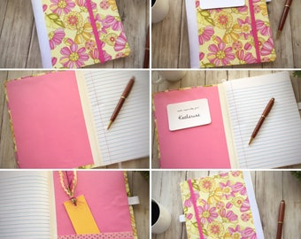 Teacher Gift — Student Gift -- Fabric Covered Book — Blank Journal —  Notebook — Personal Journal — Prayer Journal — Diary — Travel Journal