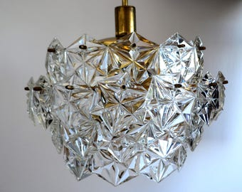 Crystal Lighting, Vintage Pendant Light, Pendant Lighting, Ceiling Lighting, Ceiling Light, Crystal pendant lighting, Soviet light