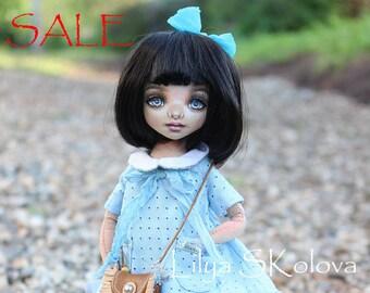 Textile doll sale a doll  interior doll fabric doll portrait doll cloth textile doll текстильная кукла selfie doll portrait doll