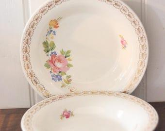 Set of 2 China Soup Bowls