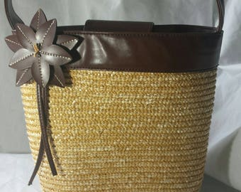 Whicker Leather Summer Purse