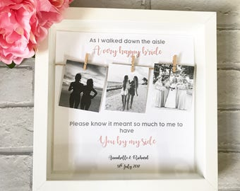 Bridesmaid Gift, Present for Bridesmaid, Bridesmaid Frame, Maid of Honour, Gift for Bridesmaids, Flower Girl Gift, Scrabble Frame