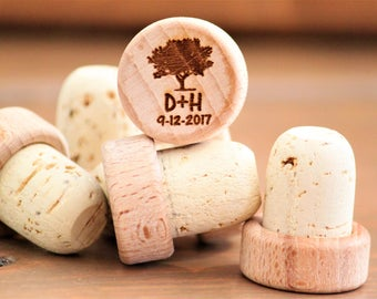 Wedding Favors for Guests, Personalized Wedding Favors, Engraved Wine Stoppers, Personalized Wine Stoppers, Custom Wine Stoppers, Wine Cork