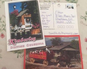 I send a sick child a postcard