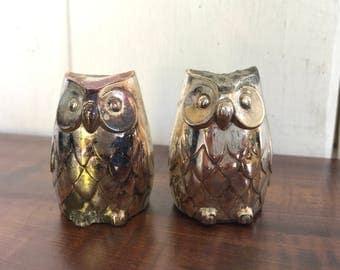Tiny Owl Salt & Pepper Shakers