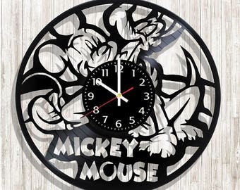 Mickey Mouse wall clock with original design, Mickey Mouse wall poster