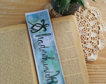 "Bookmarks handmade ""Shadowhunters"", ""Sérievore"" Collection, Bookmark Art drawing print"