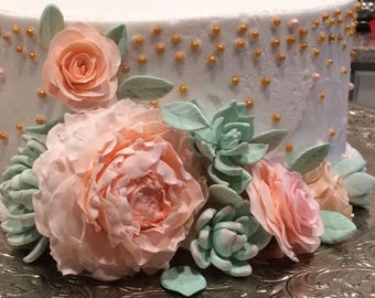 Peony Flowers for Cake Decorating