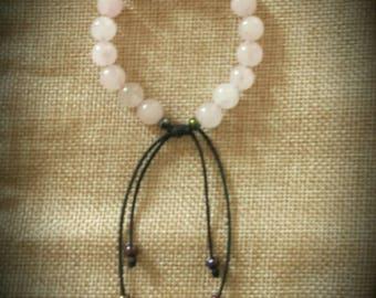 Adjustable Knot Rose Quartz Bracelet