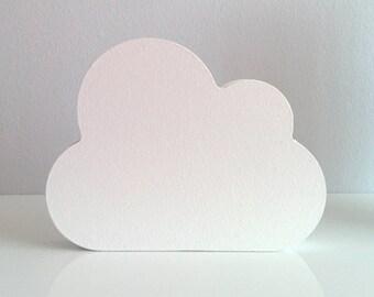 White Nursery Decor . Wooden Cloud Ornament . Wooden Nursery Decor . White Nursery . Cloud Nursery Decor . Monochrome Decor .