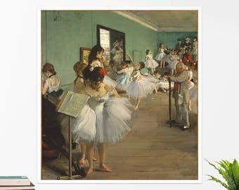 """Edgar Degas, """"The Dance Class"""". Art poster, art print, rolled canvas, art canvas, wall art, wall decor"""