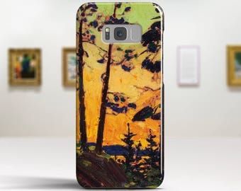 "Tom Thomson, ""Pine Trees at Sunset"". Samsung Galaxy S6 Case LG G5 case Huawei P9 Case Galaxy A5 2017 Case and more. Art phone cases."