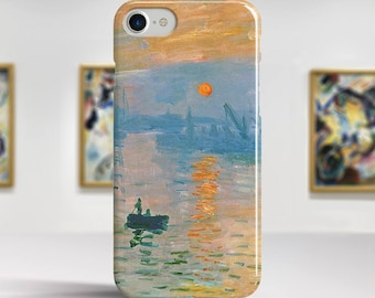 "Claude Monet, ""Impression Sunrise"". iPhone 7 Case Art iPhone 6 Case iPhone 8 Plus Case and more. iPhone 7 TOUGH cases. Art iphone cases."