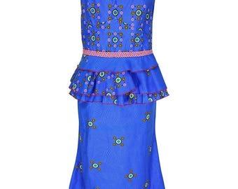 Rabatt/Discount yalina(YTC) Ankara set, Maxi skirt + top print dress, African fashion, JAVA clothing set, art. Nr. LRTD-201704/00016