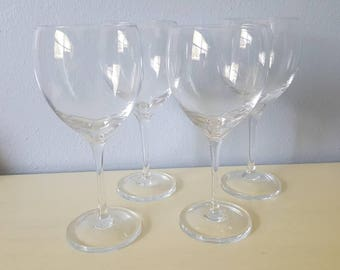 Vintage Lenox Crystal stem Wine Glasses, wedding