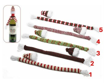 A colorful wool scarf and hat set for CHRISTMAS 1 bottle)