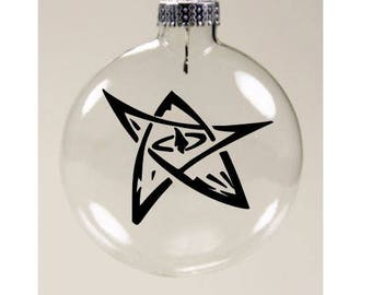 Elder Sign HP Lovecraft Cthulhu Christmas Ornament Glass Disc Holiday Horror Merch Massacre