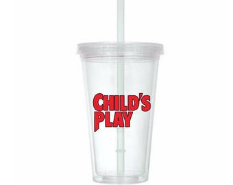 Childs Play Chucky Horror Tumbler Cup Gift Home Decor Gift for Her Him Any Color Personalized Custom Merch Massacre
