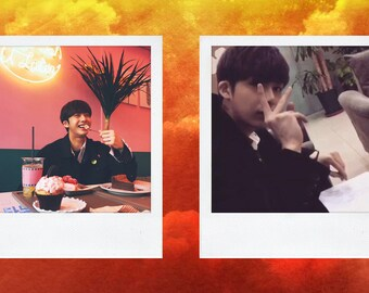 MONSTA X Hyungwon Polaroid Boyfriend Material