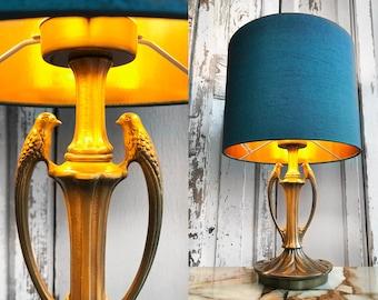 60s bird lamp from brass/60s bird lamp made of brass