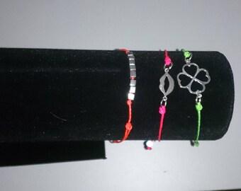 Fluo green Silver 925 bracelet