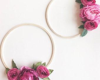 Simple Spring Floral Wreath