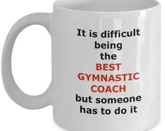 Gymnastics Coach Mug - Coffee gift best novelty cup