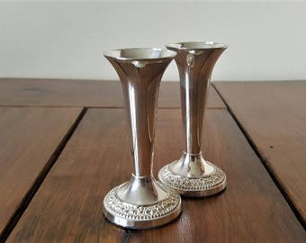 Vintage Silver Plated Candle Stick Holders