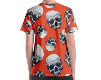 Skull Pattern Women's T-shirt