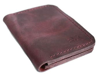 Slim leather wallet (9 colors) personalized wallet credit card wallet thin wallet card holder wallet minimalist wallet best leather wallet