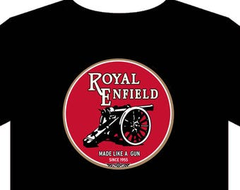 Royal Enfield - T shirt (Up to 5XL) biker classic motorcycle vintage