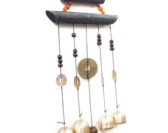 Feng Shui Chimes - Happy Home 4 Bells & Coin wind chimes