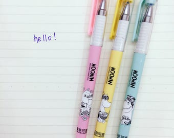 Moomin Themed Gel Pens - Black Ink - Cute School Supplies - Kawaii Stationery - Moomin Stationery - Moomin Gift - Gift For Her