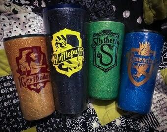 Hogwarts House Crest Custom Tumblers (Harry Potter)