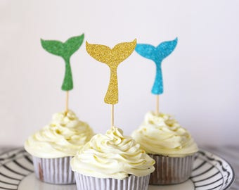 Mermaid Cupcake Topper /Mermaid Party Decor /Mermaid Party/Mermaid tail table decorations/Birthday  cupcake topper