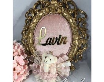 Baby Girl Door Wreath - Personalized Hospital/Room Decor Wreath