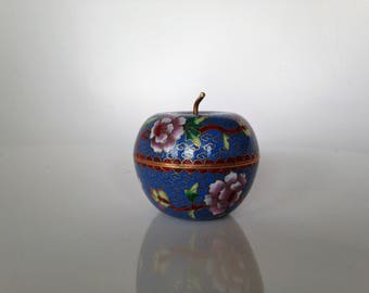 Box cloisonné - Apple - Asia China - vintage