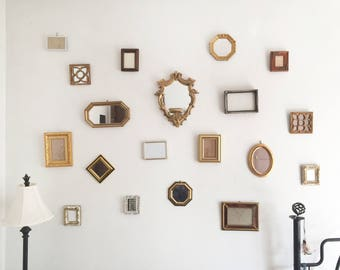 Vintage Mirror and Frame Wall