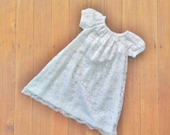 "Baby girls Christening Dress, Baby blessing dress,  size 3-6 months, ""READY TO SHIP"""