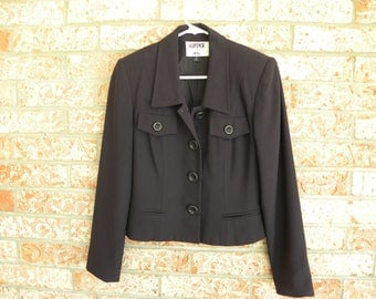 Vintage 80's KASPER for ASL Women's Dress Suit, Skirt and Jacket, Grape, Size 6 Lined, Career