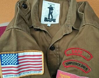 Vintage rare bape soldier