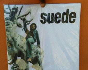 Rare vintage suede