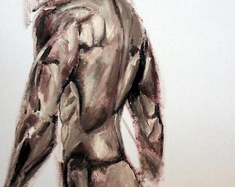 PRINT A4   Male Nude Study, Nude Study, Nude Art, Art Nudes,