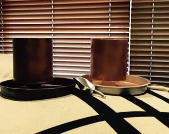Copper finish planters