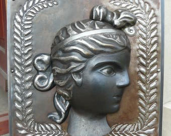 Ancient Roman Themed Steel Profile Sculpture, Reproduction