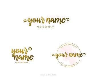 Logo Design, Premade Logo, Photography Logo, lettering, Photography Watermark, Logo and Watermark, Business Logo, Branding Kit, handletter